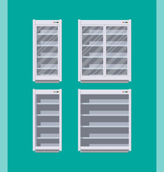 Modern commercial fridge or refrigerator vector
