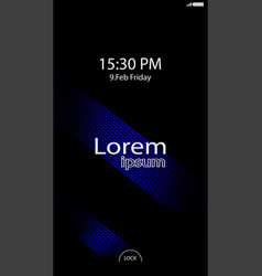 modern lock screen for mobile apps mobile vector image