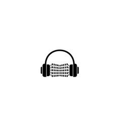 Music chart logo design template vector