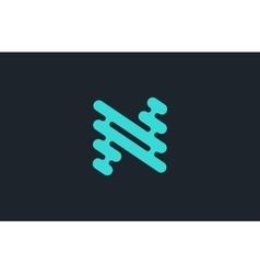 N logo design Line logo Creative logo N letter vector image