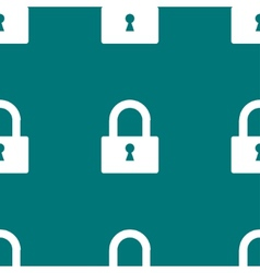 Padlock web icon flat design Seamless pattern vector