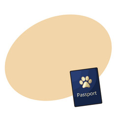 Pet passport formal document certificate for dog vector