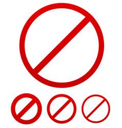 Prohibition no permission sign vector