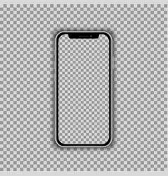 Realistic smartphone screen template isolated on vector