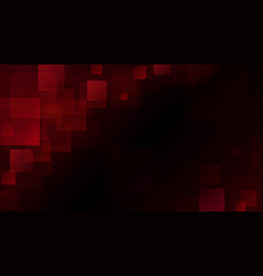 Red abstract background of blurry squares vector