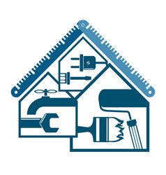Repair and maintenance at home vector