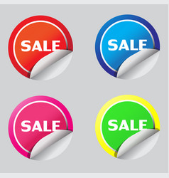 Sale sticker icon design vector