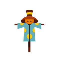 scarecrow icon flat style vector image