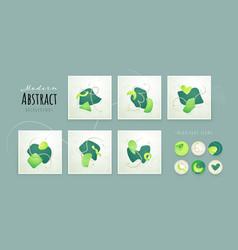 Set creative minimalist hand drawn abstract vector