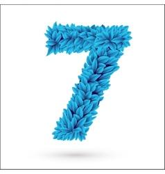 Seven 7 number vector