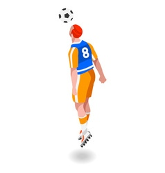 Soccer Header 2016 Sports Isometric 3D vector image