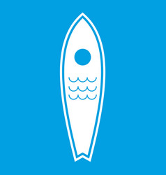 surfboard icon white vector image