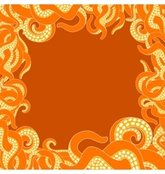 Tentacles frame with copy space vector