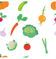 Vegetable pattern on a white background vector