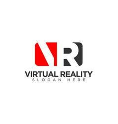 Virtual reality logo design template vector