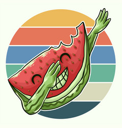 watermelon cool dabbing vector image