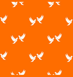 wedding doves pattern seamless vector image