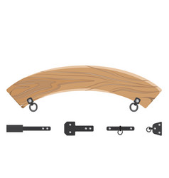 wooden board and fastener set vector image