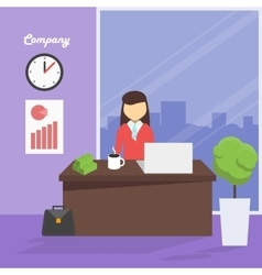 Workplace manager vector image