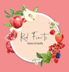 Wreath design with fruits theme various fruits vector