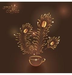 Cup of Arabic Coffee vector image vector image