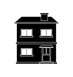 house facade residential estructure pictograh vector image