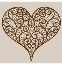 Ornamental heart vector image