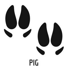 pig step icon simple style vector image