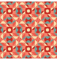 Seamless Blue Pink Color Geometric Ethnic vector image