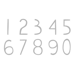 Full hand drawn numbers vector image