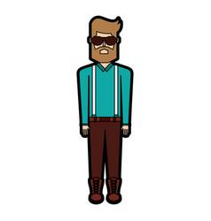 vintage body man cartoon vector image