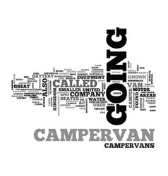 what is a campervan text word cloud concept vector image