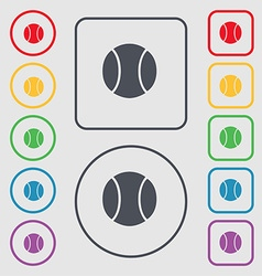 baseball icon sign symbol on the Round and square vector image