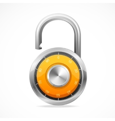 Combination opened lock security concept vector