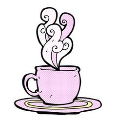 comic cartoon tea cup vector image vector image