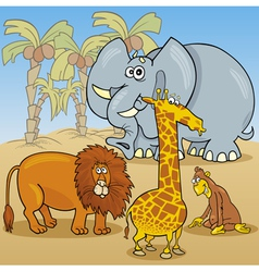 cute african animals cartoon vector image vector image