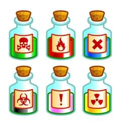 Dangerous liquids vector image vector image