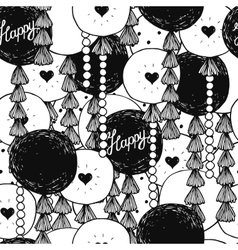 Hand drawn happy birthday background vector image vector image
