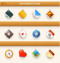 hung icons - set 1 vector image vector image