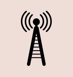 phone antenna icon on white background vector image