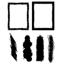 set of banners brushes and frames vector image vector image