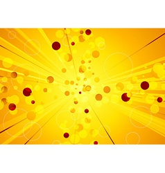 Solar explosion - shiny abstract background vector image vector image