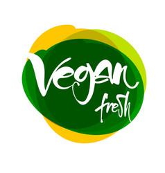vegan lettering template vector image