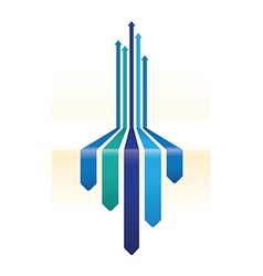blue arrow background vector image