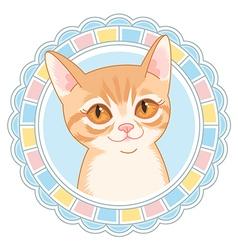 cartoon little cat vector image vector image
