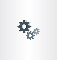 cogs icon gears symbol design element vector image