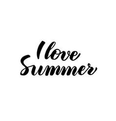 love summer handwritten calligraphy vector image vector image