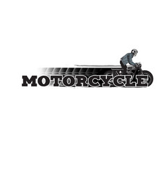 motorcycle man riding motorcycle white background vector image