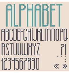 Retro font numbers and punctuation marks vector image vector image