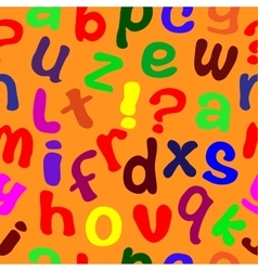 Seamless texture with English letters vector image vector image